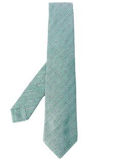 галстук с вышивкой Kiton