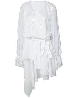 асимметричное платье с драпировкой Alexandre Vauthier