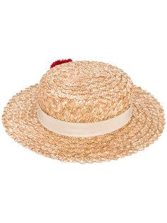шляпа с помпонами Eugenia Kim