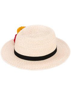 шляпа с помпонами Lillian Eugenia Kim
