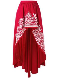 асимметричная юбка с вышивкой Wandering
