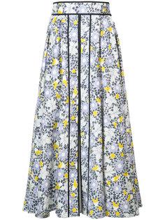 юбка с цветочным узором Carolina Herrera