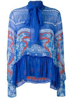 прозрачная блузка с оторочкой Mary Katrantzou