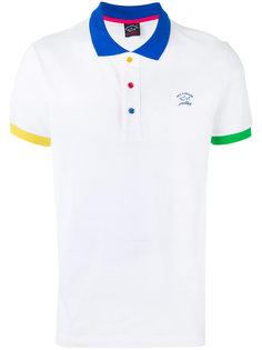 рубашка поло с цветным воротником Paul & Shark