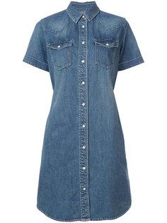 платье-рубашка с поясом Sacai