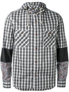 куртка с капюшоном  и клетчатым принтом Junya Watanabe Comme Des Garçons Man