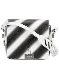 сумка в полоску с откидным клапаном  Off-White