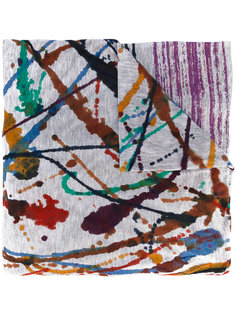 шарф с брызгами краски Faliero Sarti