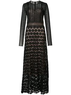 прозрачное приталенное платье Theory