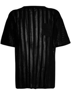 футболка с прозрачными панелями Maharishi