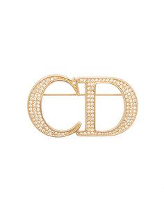 CD logo pin brooch Christian Dior Vintage