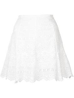 юбка с цветочным узором и фестонами Love Shack Fancy