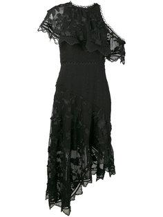 декорированное платье с открытыми плечами Zimmermann