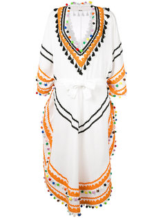 pom-pom edged kaftan dress Dodo Bar Or