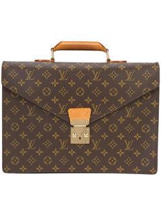 Monogram business briefcase Louis Vuitton Vintage