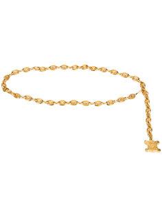 logo chain link belt Céline Vintage