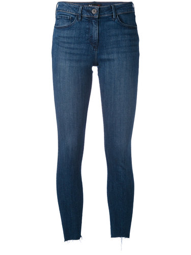 укороченные джинсы с необработанным низом 3X1