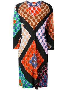 circle print cropped sleeve dress Wunderkind