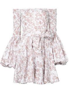 платье с заниженной линией плеч Caroline Constas