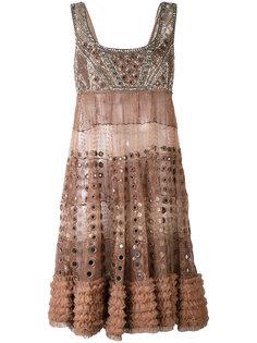 декорированное мини-платье  Amen Amen.