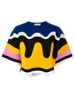 футболка с волнистым принтом Emilio Pucci