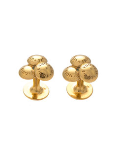 logo ball cufflinks Louis Vuitton Vintage
