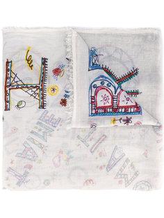 шарф с принтом детских рисунков Faliero Sarti