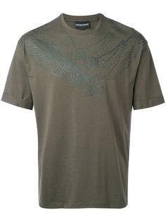 футболка с принтом птиц Emporio Armani