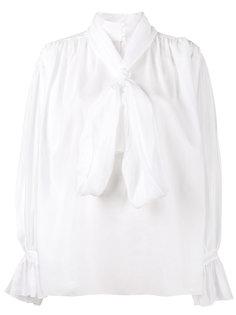 блузка с высокой горловиной и завязкой на мягкий бант Vika Gazinskaya