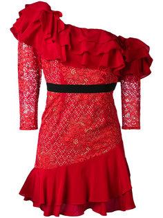 кружевное платье с рюшами For Love And Lemons