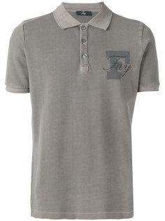 рубашка-поло с принтом-логотипом Fay