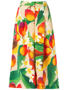 floral and mango culottes Isolda