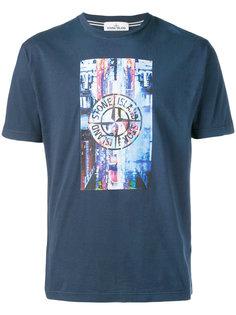 футболка с принтом с логотипом Stone Island