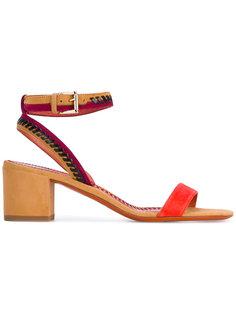 босоножки на каблуках-столбиках Santoni