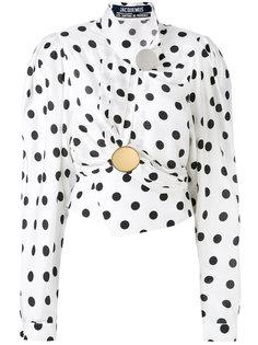 драпированная блузка с узором в горох Jacquemus