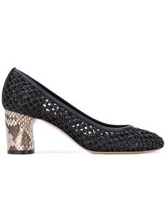 туфли с фактурной отделкой Casadei