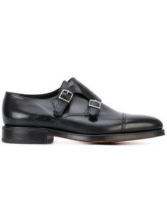 туфли дерби с пряжками John Lobb