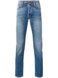 узкие джинсы с высветленным дизайном Nudie Jeans Co