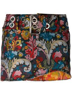 асимметричная юбка с цветочным узором Marquesalmeida