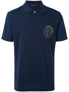 рубашка-поло со вставкой с гладиатором Versace