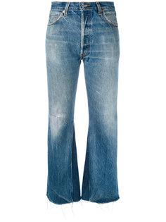 укороченные джинсы с необработанными краями Re/Done