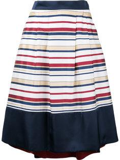 асимметричная юбка в полоску Loveless