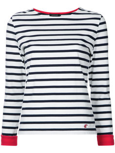 contrast cuff bateau top Loveless