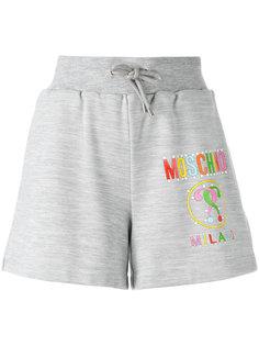 шорты с принтом логотипа Moschino