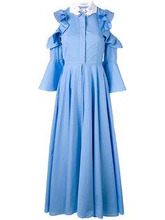 платье-рубашка с юбкой в складку Vivetta