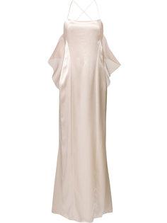 вечернее платье с открытой спиной Galvan