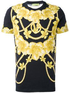 футболка с цепочным принтом Versace Jeans