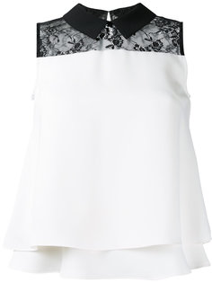 lace panel sleeveless shirt Loveless