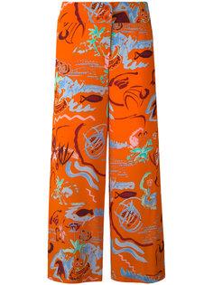 укороченные брюки с вышивкой Aspesi
