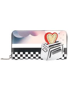 континентальный кошелек  с принтом тостера Marc Jacobs